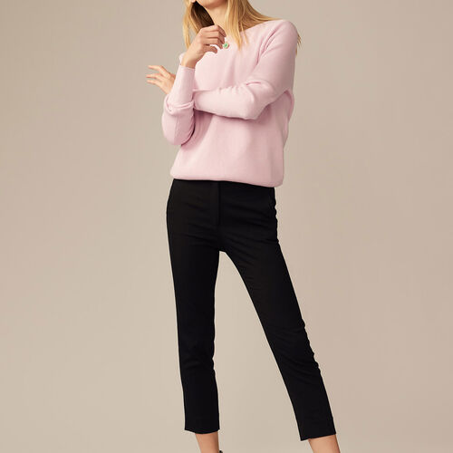 Straight pants in viscose : Trousers color Black 210