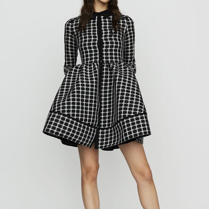 Plaid shirt dress : Dresses color CARREAUX