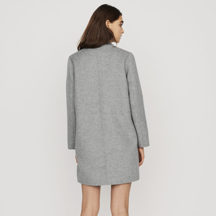 Mid-length double-faced coat : Coats color Grey