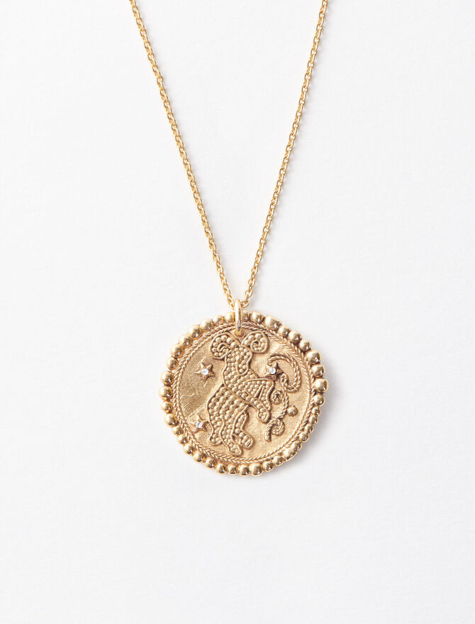 Aries zodiac sign necklace -  - MAJE
