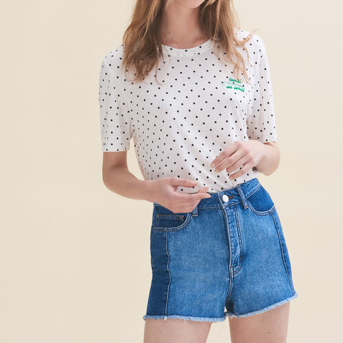 Embroidered T-shirt Monday : T-shirts color White