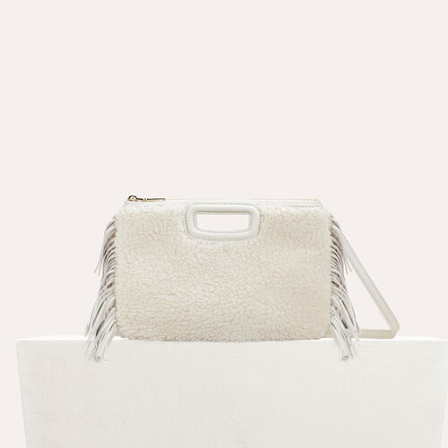 M Duo clutch in leather : M Duo color White
