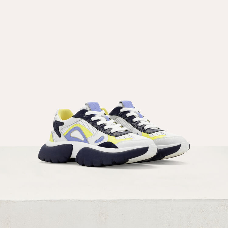 W20 Urban fabric mix sneakers : Sneakers color Blue