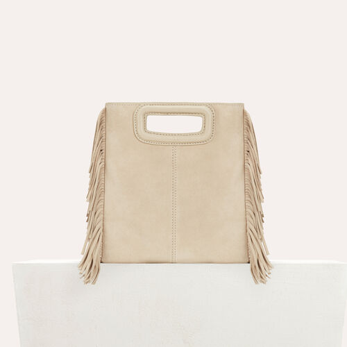 M bag in suede : M bag color Beige