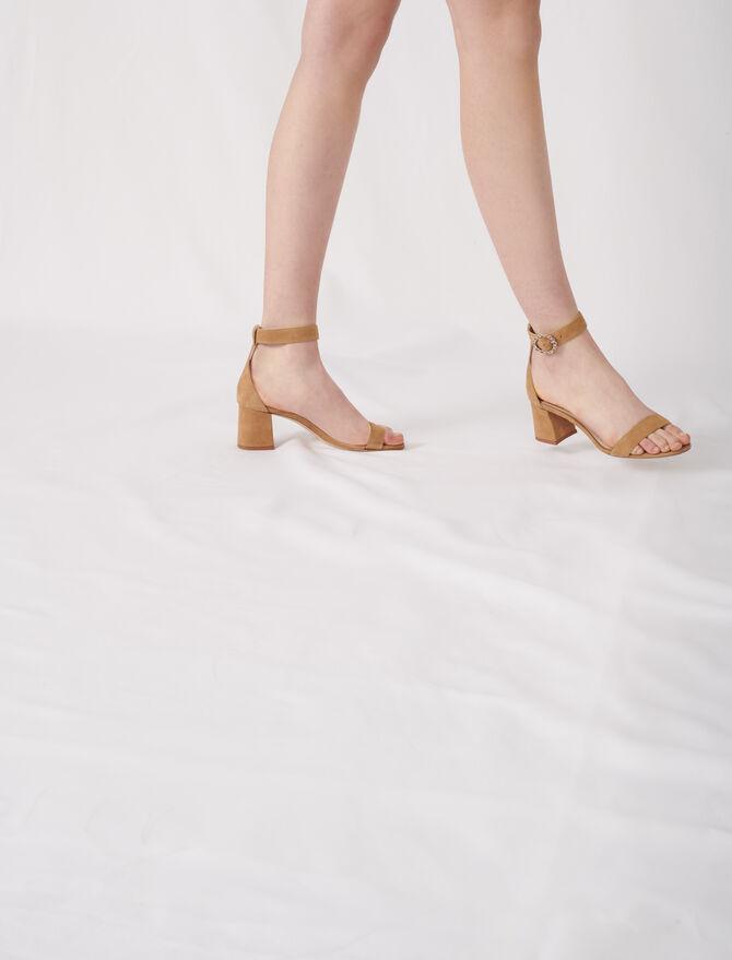 Sandales à talons midi avec brides - Chaussures_Sandales - MAJE