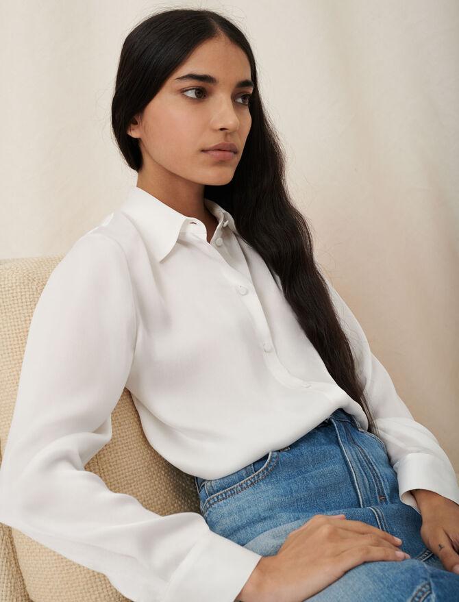 White silk shirt - New collection - MAJE