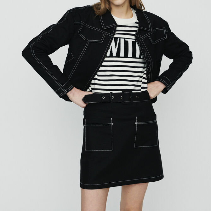 Cropped jacket with stitched detailing - See all - MAJE