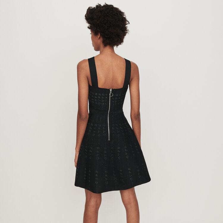 Lurex and knit dress : Dresses color Black