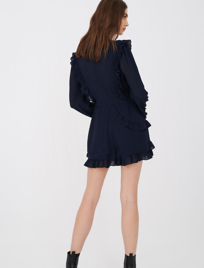 Playsuit with ruffles - Dresses - MAJE