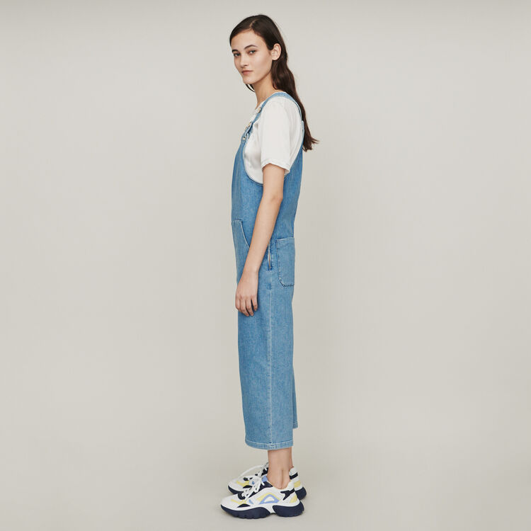 2ce2782dd6a PIMBO Denim jumpsuit - Trousers   Jeans - Maje.com