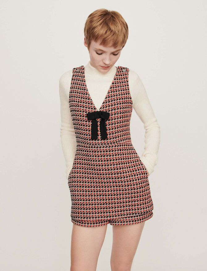 Tweed-style playsuit - Dresses - MAJE