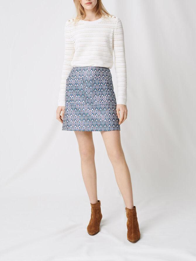 Lurex jacquard skirt - Skirts & Shorts - MAJE