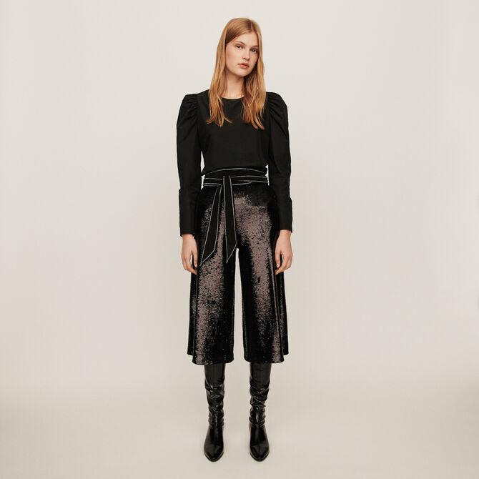 Sequin bermuda-style pants - staff private sale 20 - MAJE