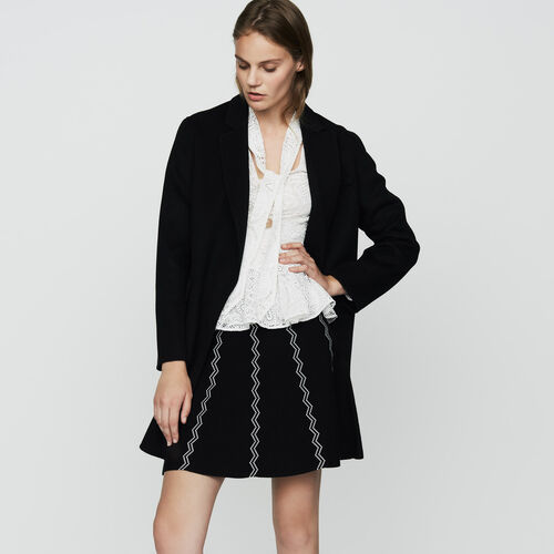 Double-faced wool coat : Coats color Black 210
