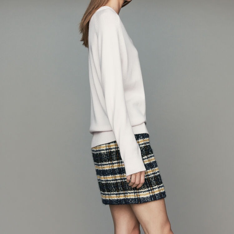 Oversized wool-cashmere sweater : Knitwear color ECRU