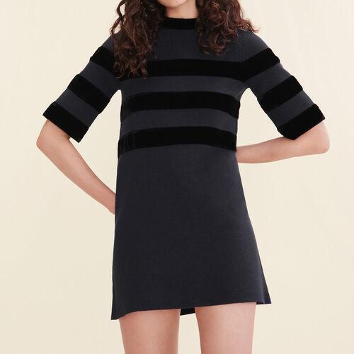 Short locknit dress : Dresses color Navy
