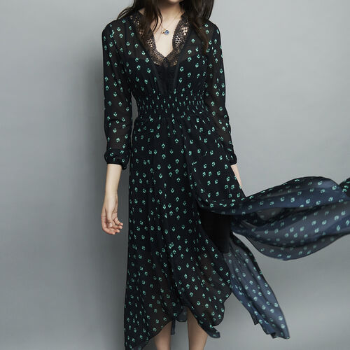 Printed long dress : Dresses color PRINTED
