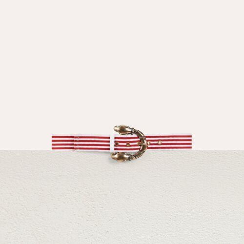 Striped belt : Belts color Red