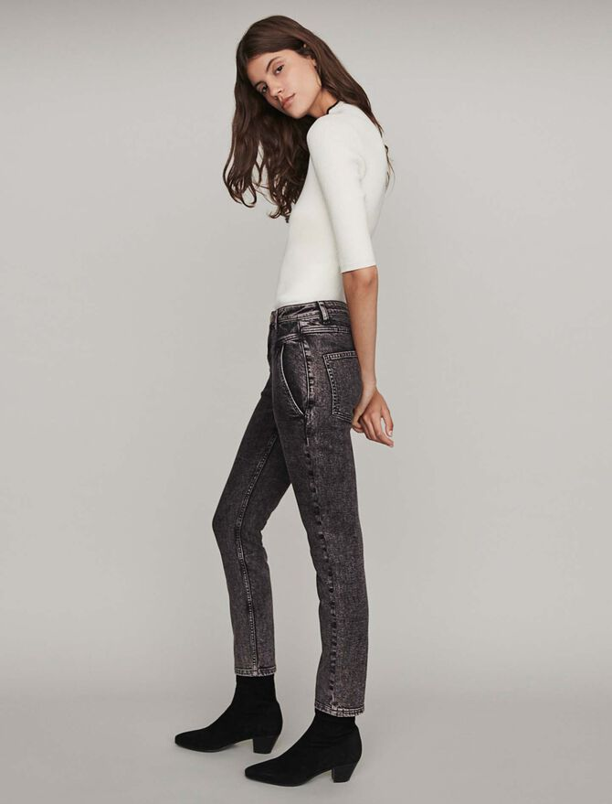 High-rise faded jeans - Trousers & Jeans - MAJE