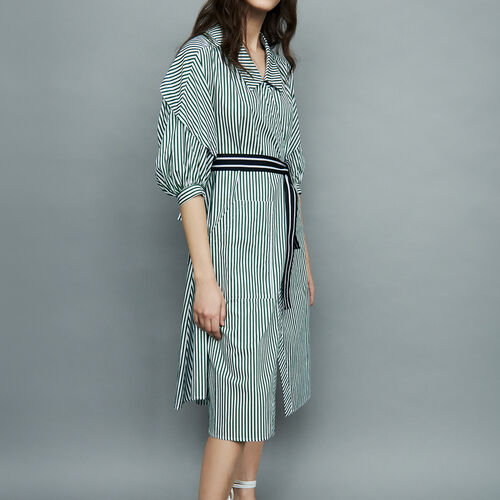 Understructured striped dress : Dresses color Stripe