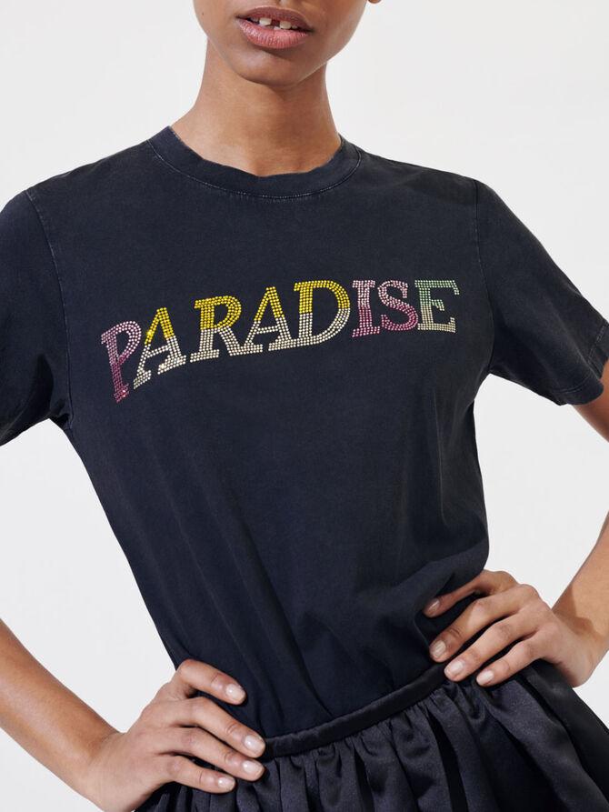 "Diamanté ""Paradise"" T-shirt - T-Shirts - MAJE"