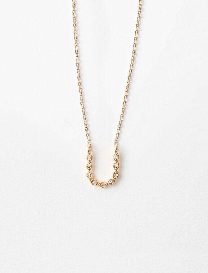 Rhinestone U necklace -  - MAJE