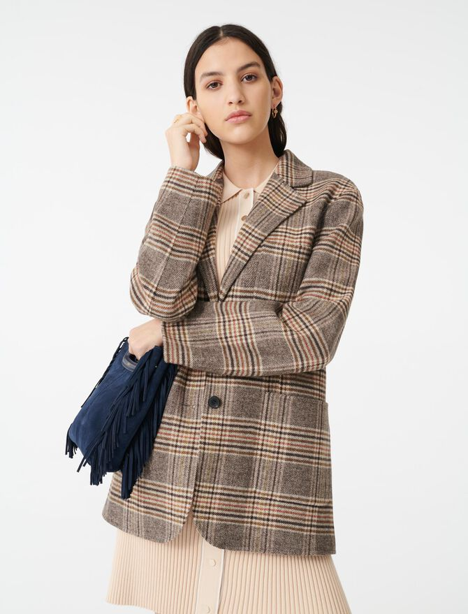 Checked jacket-style coat - Coats & Jackets - MAJE