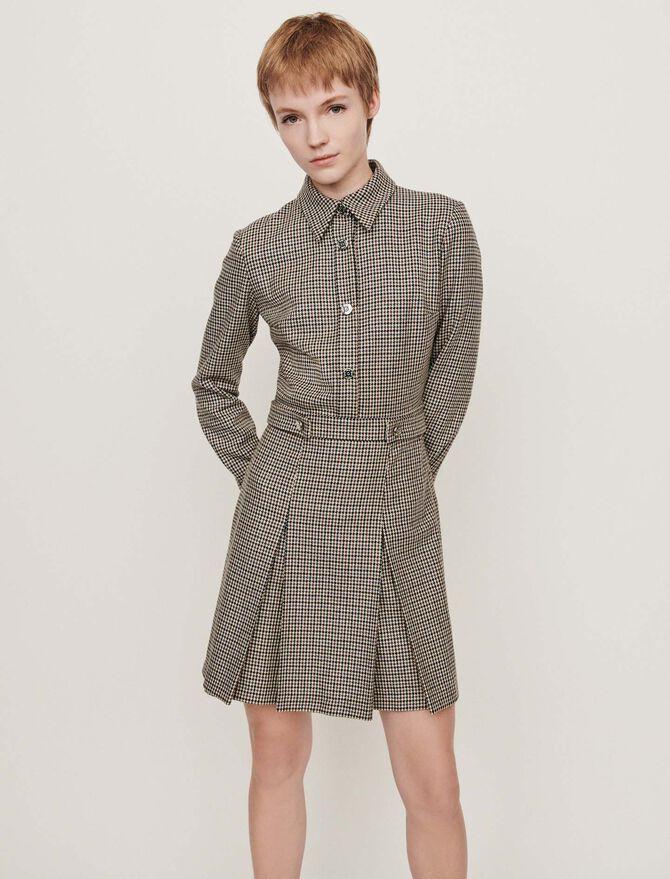 Plaid jacket-style coat - -30% - MAJE