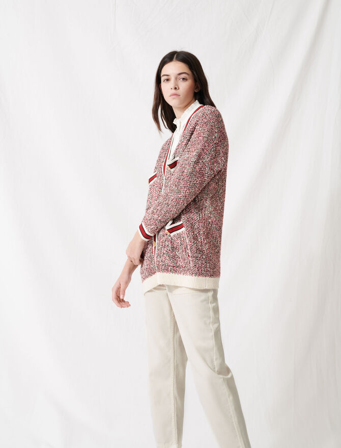 Fancy knit cardigan - All the collection - MAJE