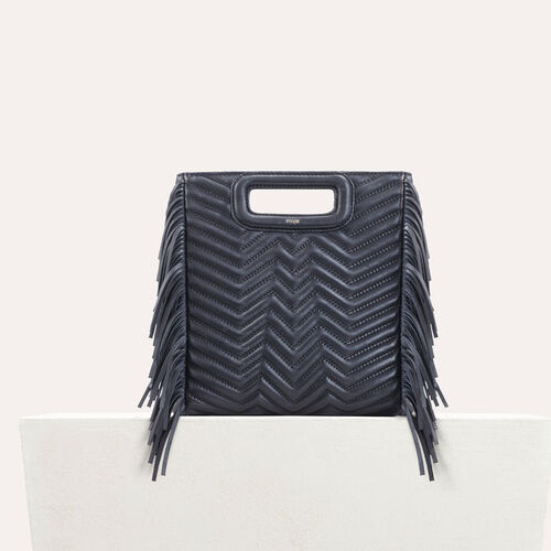 Quilted leather M bag : -30% color Navy