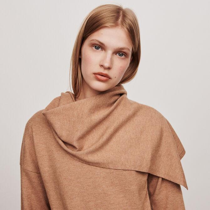 Knotted crewneck sweater - staff private sale 20 - MAJE
