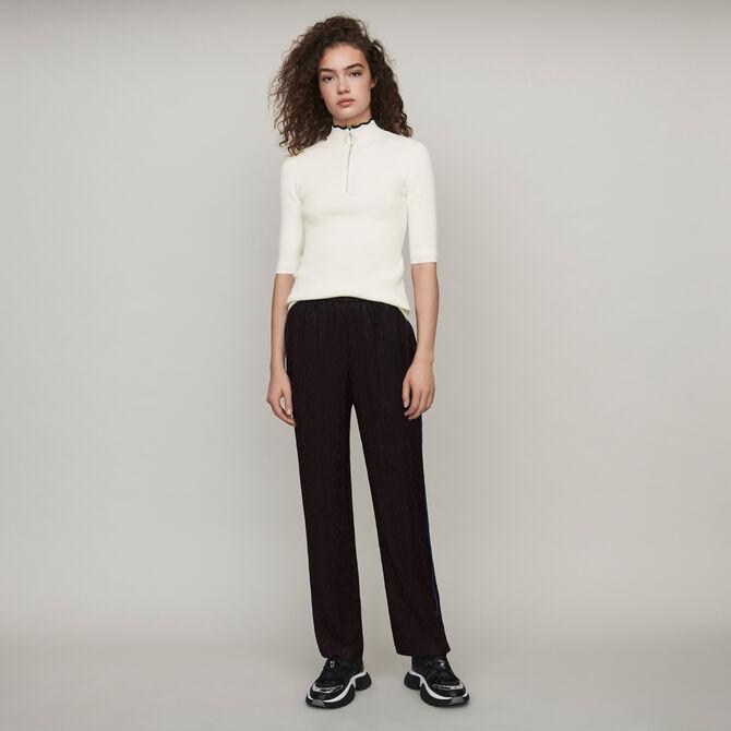 Flowing satin jacquard pants - staff private sale 20 - MAJE