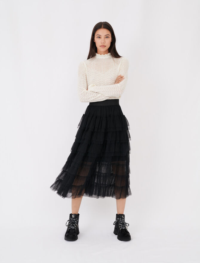 Tulle midi skirt - Skirts & Shorts - MAJE
