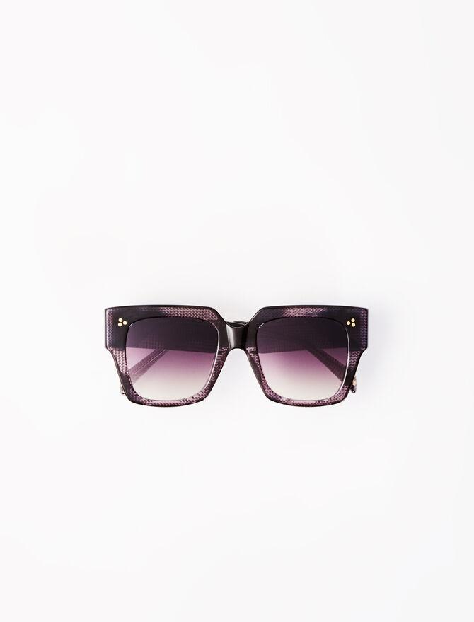 Lunettes de soleil carrées brunes - Accessoires_Lunettes - MAJE