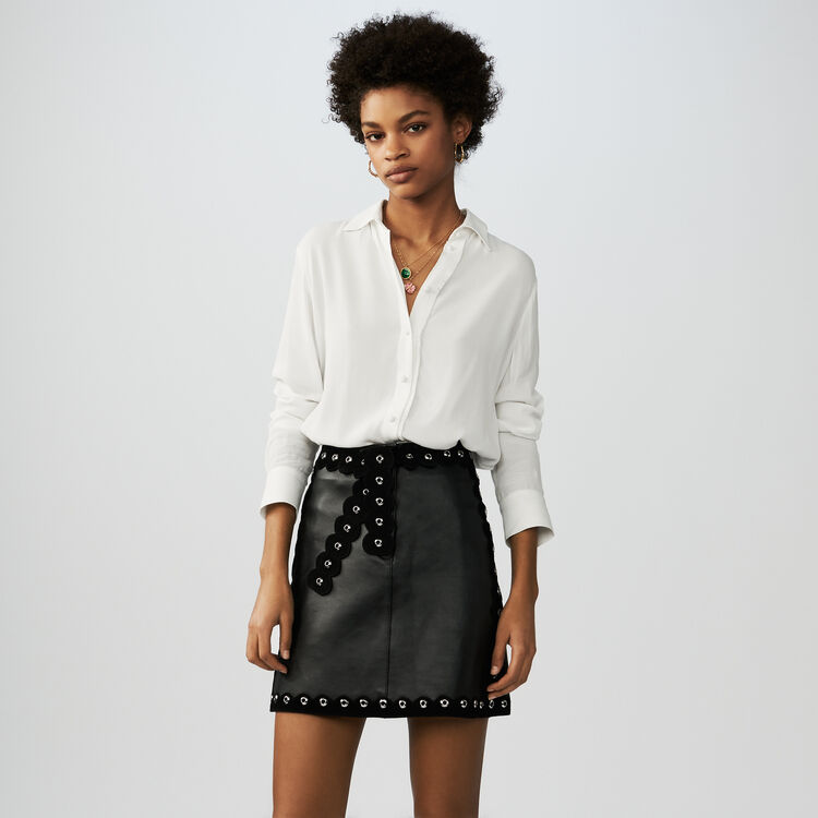 Leather skirt : Skirts & Shorts color Black 210