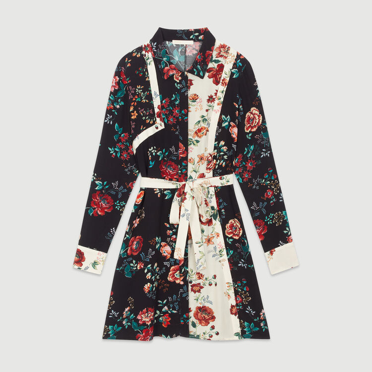 Robe-chemise à imprimé floral : Dresses color Printed