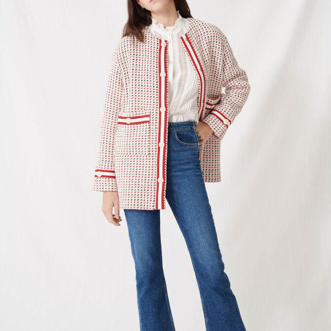 Short preppy tweed-style coat -  - MAJE