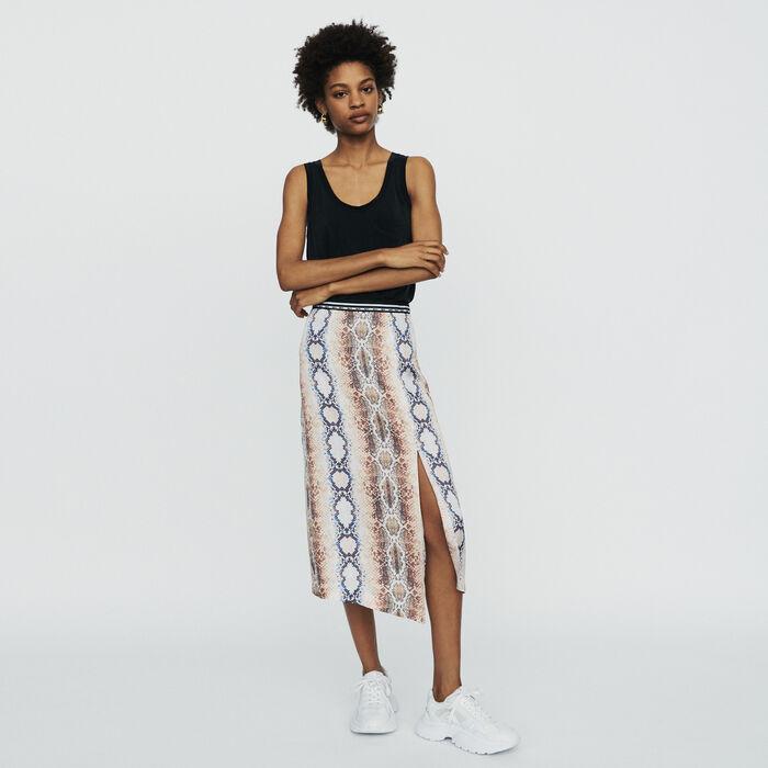 Long skirt with python print : Skirts & Shorts color Printed