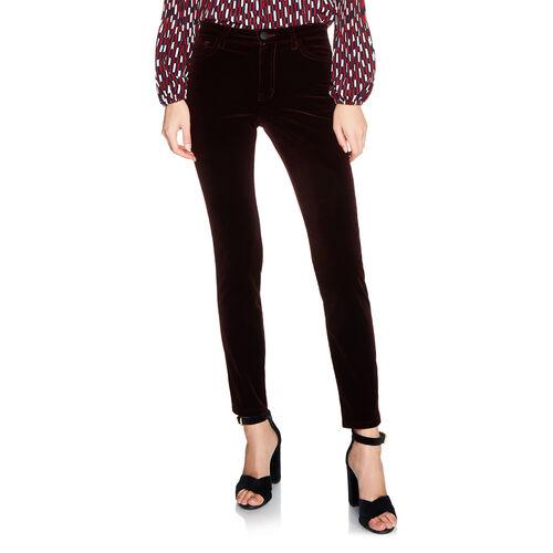 Velvet 5-pocket trouser : Trousers color BORDEAUX