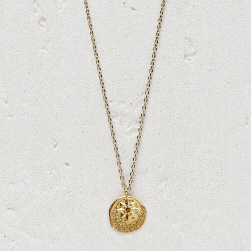 "Necklace with medallion ""Mon étoile"" : Jewelry color GOLD"