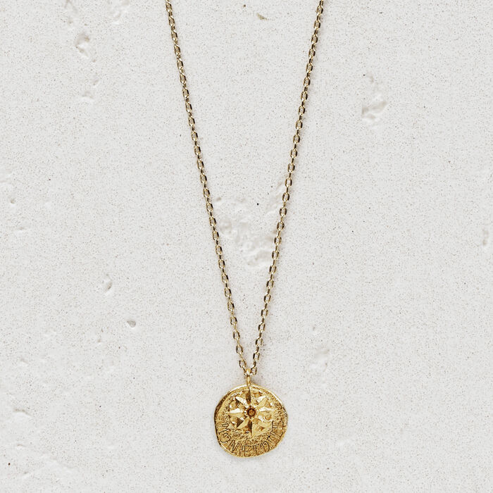 """Necklace with medallion """"Mon étoile"""" : Jewelry color GOLD"""