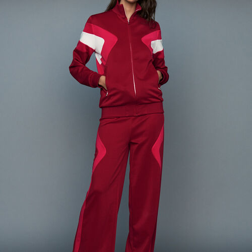 Jogging pants : Trousers color Raspberry