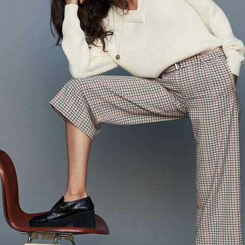 Plaid pants : Office girl color CARREAUX