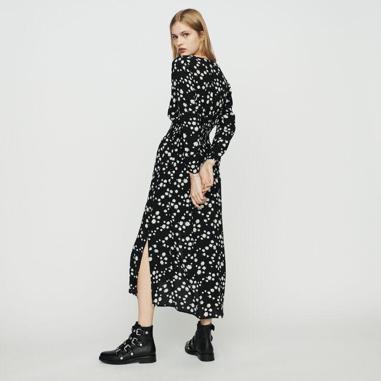 Robe longue à imprimé marguerite : Pap_Robes couleur IMPRIME