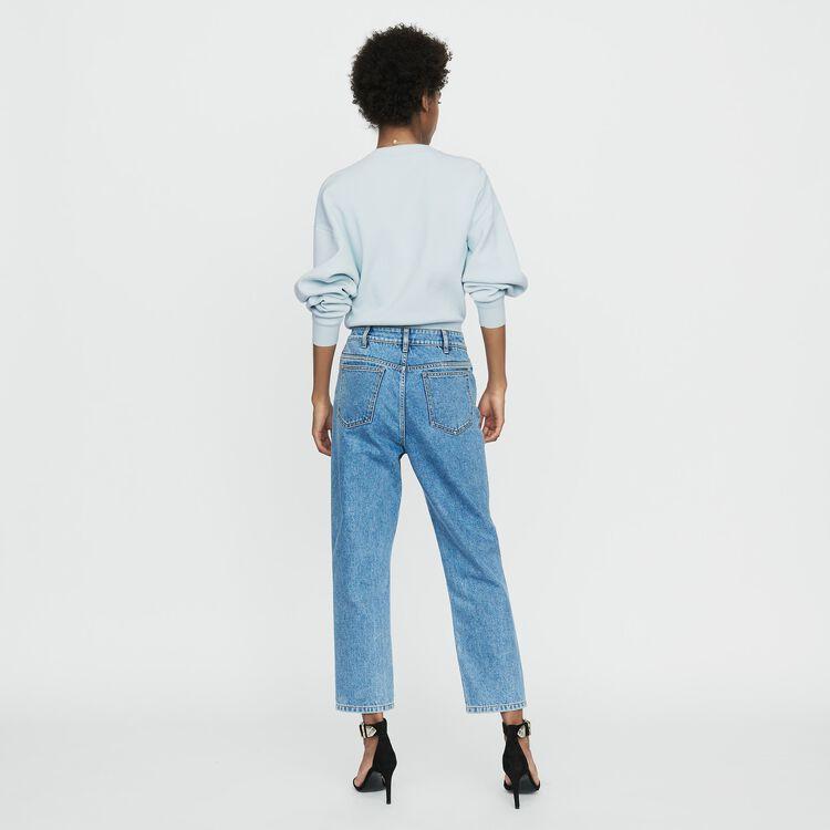 c4b84cc7edd PARIO Wide denim jeans in faded denim - Trousers   Jeans - Maje.com