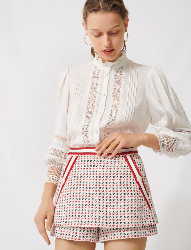 Short tweed-style trompe-l'œil skirt - Skirts & Shorts - MAJE