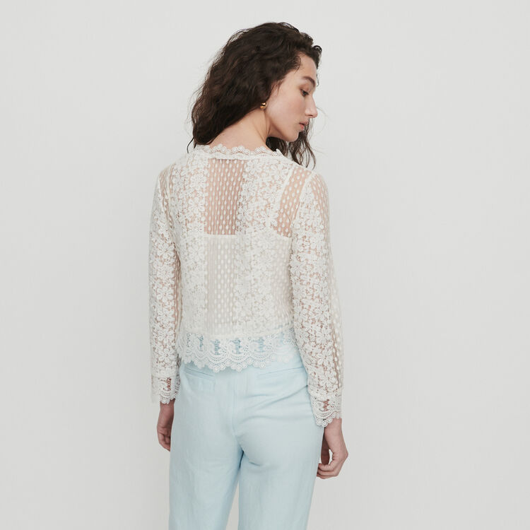 Guipure lace top : Tops & Shirts color White