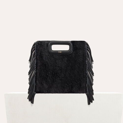 M bag in novelty fur : M bag color Black 210