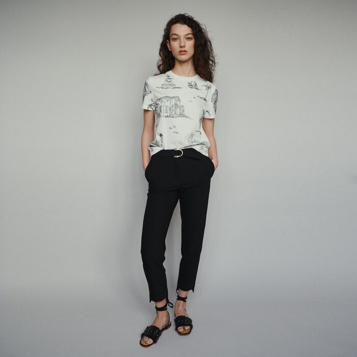 ab25af2432d PALMA Straight belted pants - Trousers   Jeans - Maje.com