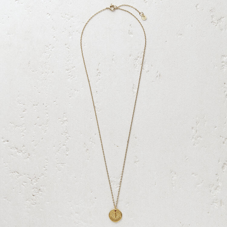 """Necklace with medallion """"Mon ancre"""" : Jewelry color GOLD"""